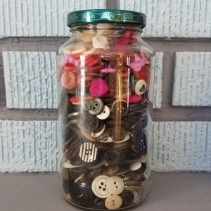 Jar of mixed buttons